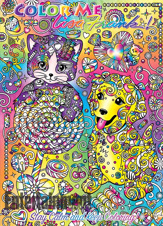 Lisa Frank coloring books 1