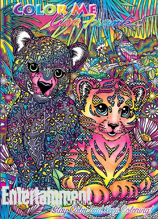Lisa Frank coloring books 4