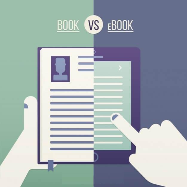 traditional book vs ebook